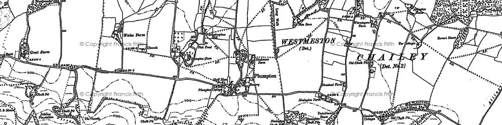 Old map of Plumpton in 1896