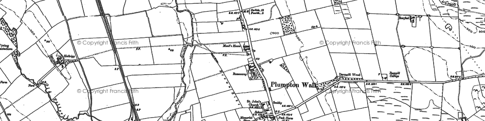 Old map of Lazonby Fell in 1898