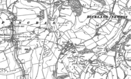Old Map of Plush, 1887