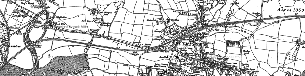 Old map of Plympton in 1884