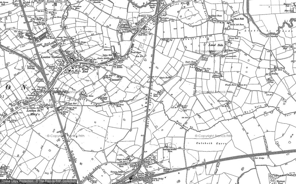 Old Map of Pocket Nook, 1892 in 1892