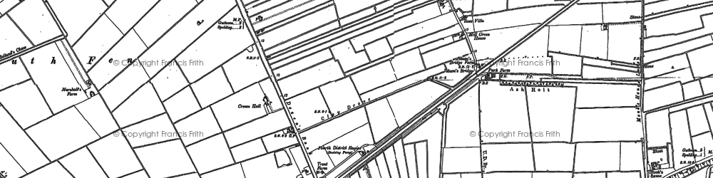 Old map of Lindum Ho in 1886