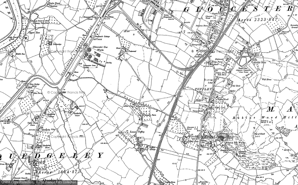 Old Map of Historic Map covering Linden in 1883