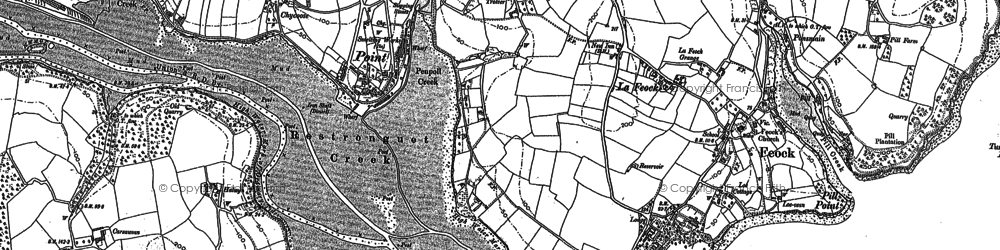 Old map of Chycoose in 1878