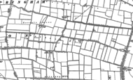Old Map of Pointon Fen, 1886 - 1887