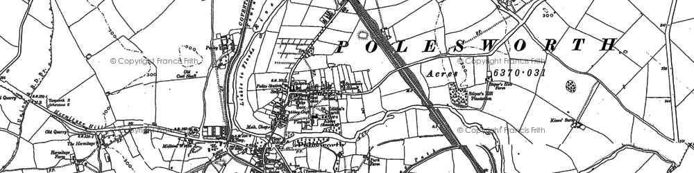 Old map of Polesworth in 1883