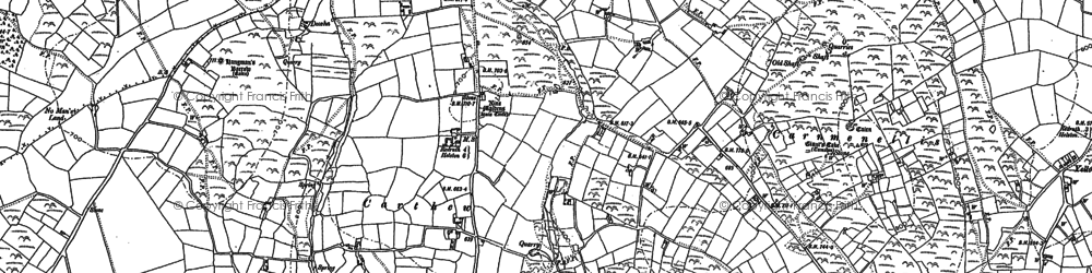 Old map of Carthew in 1878