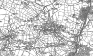 Old Map of Polgooth, 1879 - 1881