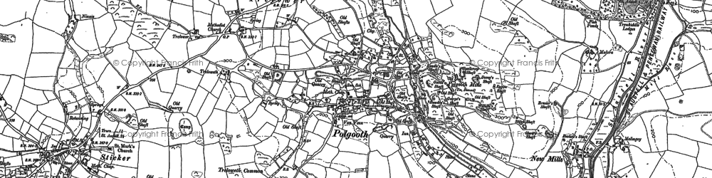 Old map of Polgooth in 1881