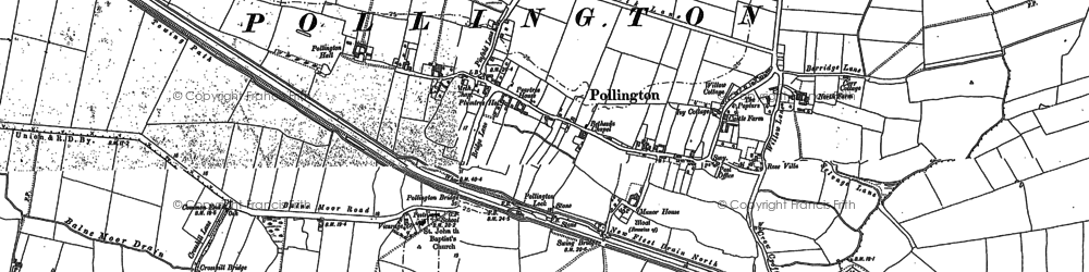 Old map of Balne Lodge in 1888