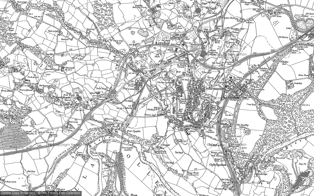 Old Map of Pont Cysyllte, 1909 - 1910 in 1909