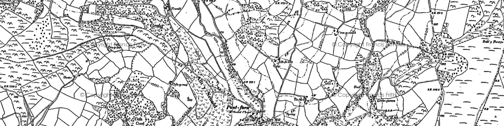 Old map of Alltycerrig in 1886