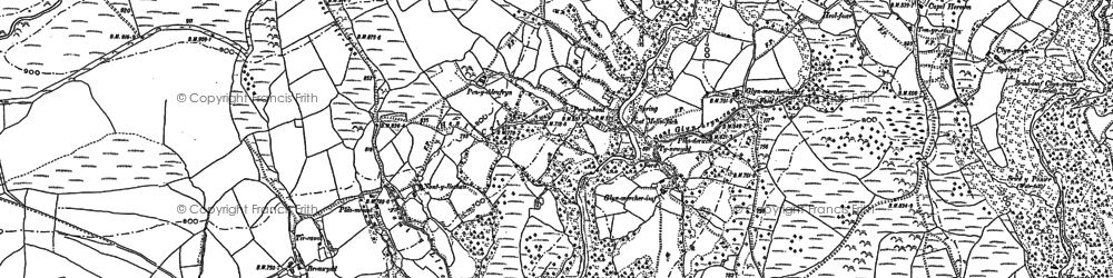 Old map of Afon Mellte in 1903