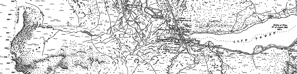 Old map of Afon Lloer in 1888