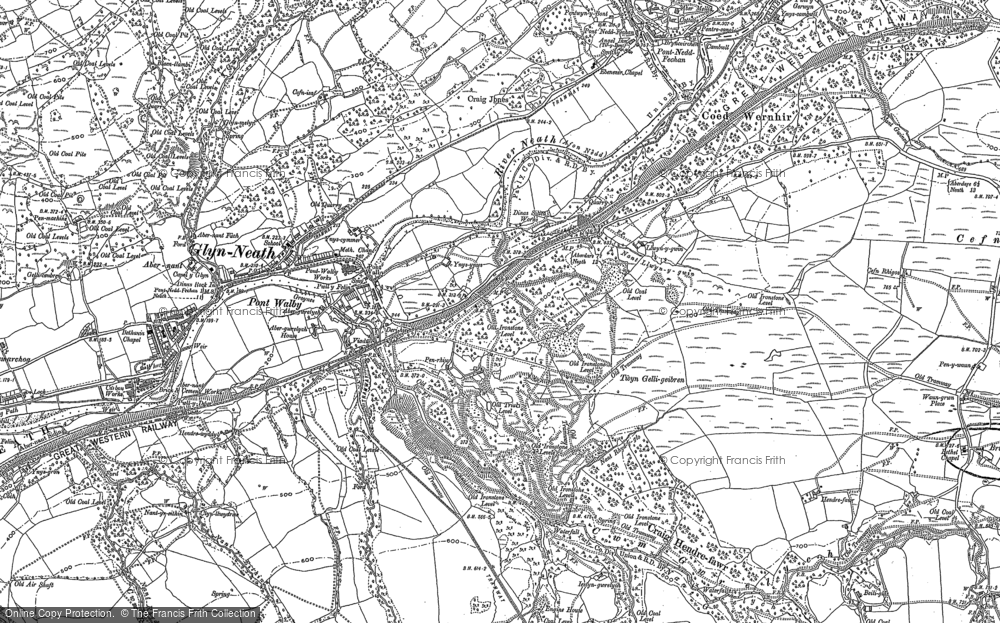 Old Map of Historic Map covering Y Foel Chwern in 1897
