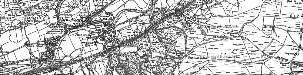 Old map of Y Foel Chwern in 1897