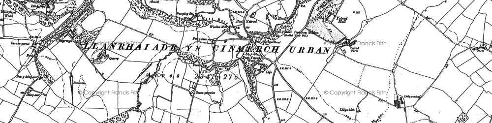 Old map of Ystrad-isaf in 1898