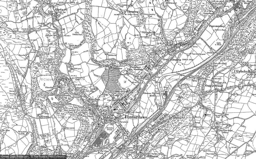 Old Map of Pontardawe, 1897 in 1897
