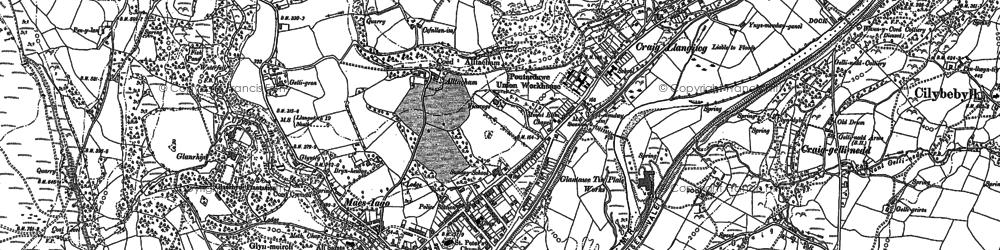 Old map of Pontardawe in 1897
