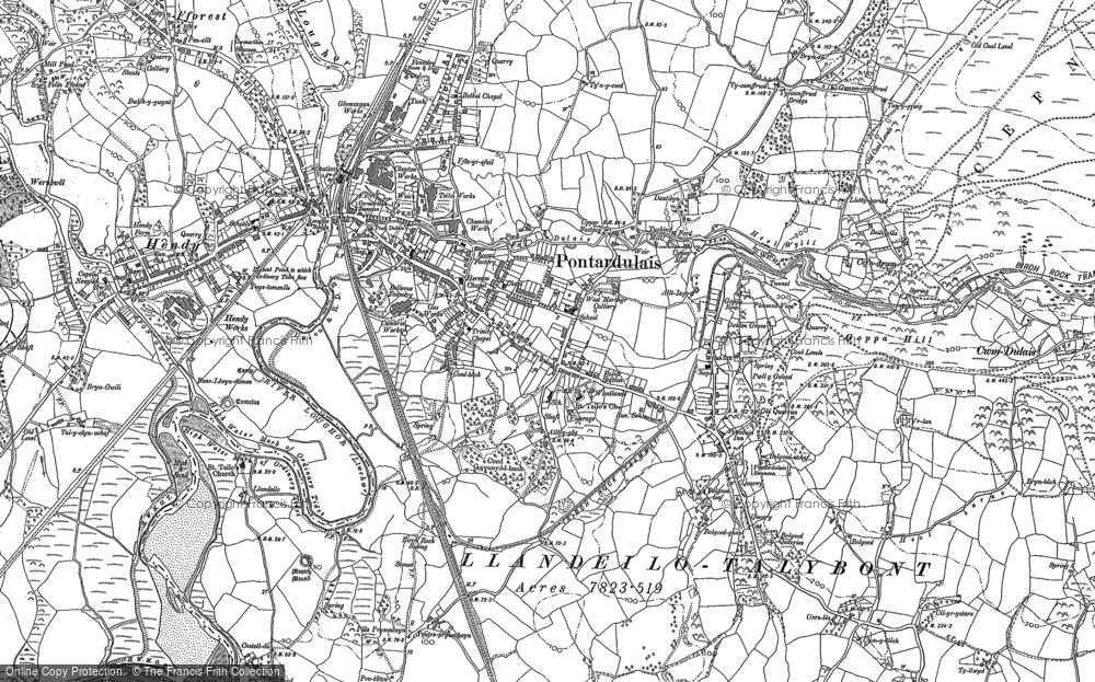 Old Map of Pontarddulais, 1905 - 1913 in 1905