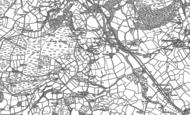 Old Map of Pontdolgoch, 1885