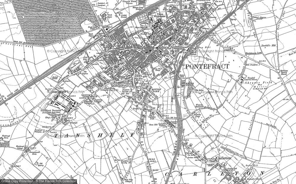 Old Map of Historic Map covering Baghill Sta in 1890