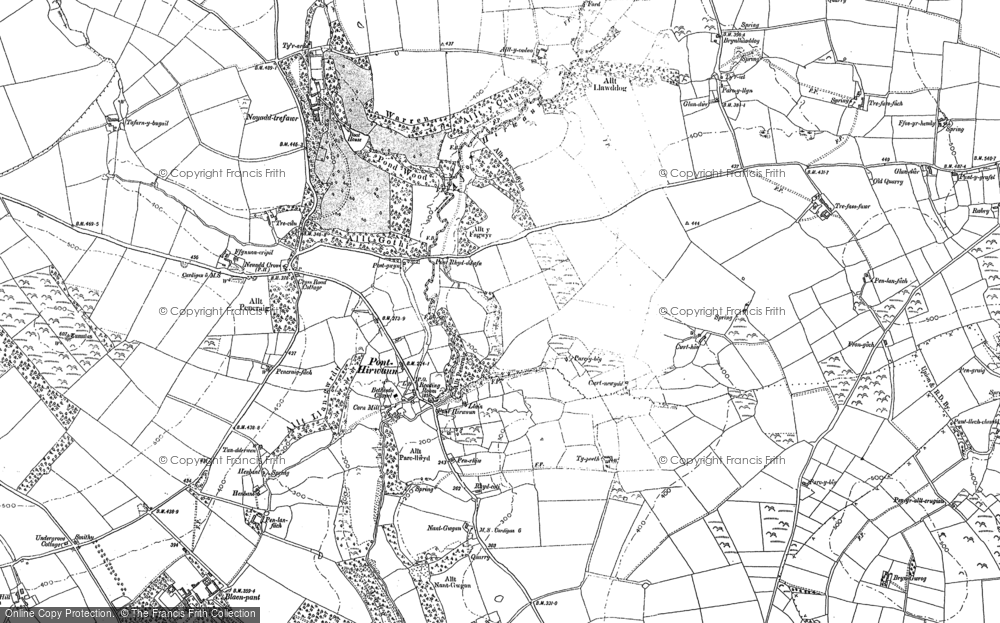 Old Map of Historic Map covering Allt-y-cadno in 1904