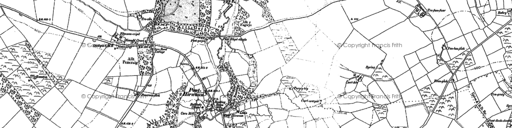 Old map of Allt-y-cadno in 1904