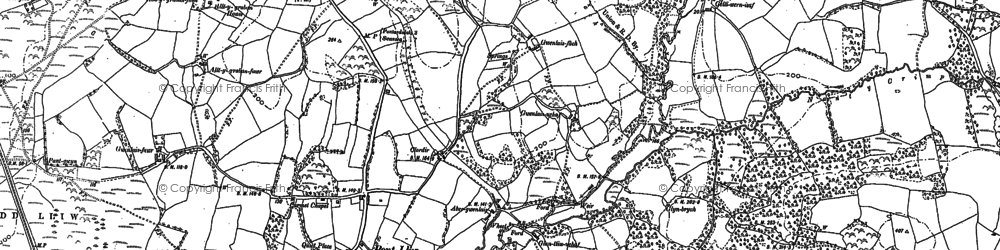 Old map of Tircoed in 1905