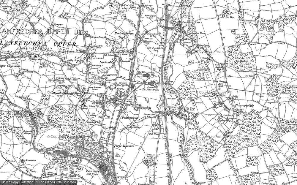 Map of Pontnewydd, 1899