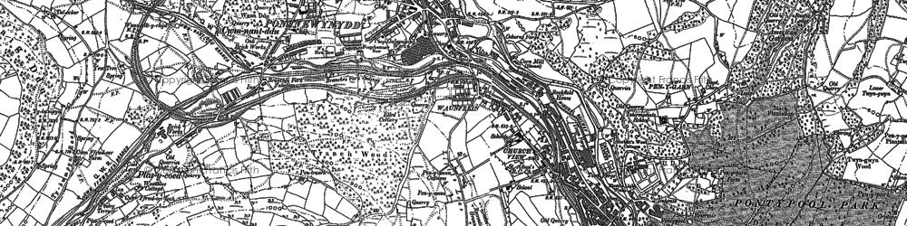 Old map of Pontnewynydd in 1899