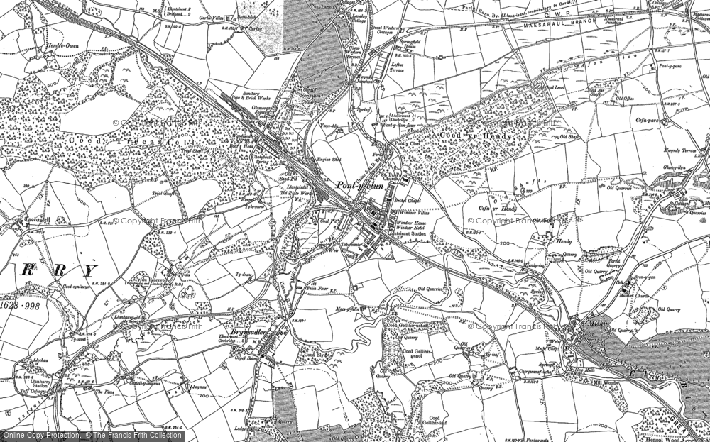 Old Map of Pontyclun, 1897 - 1898 in 1897