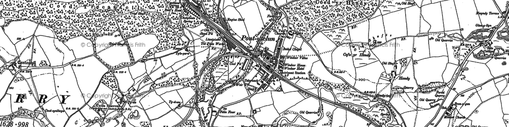 Old map of Pontyclun in 1897