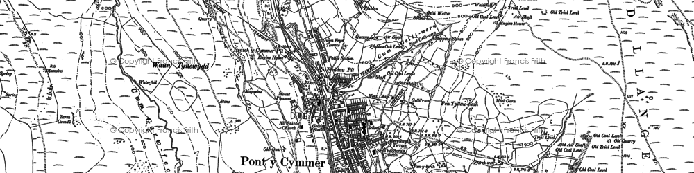 Old map of Pontycymer in 1897