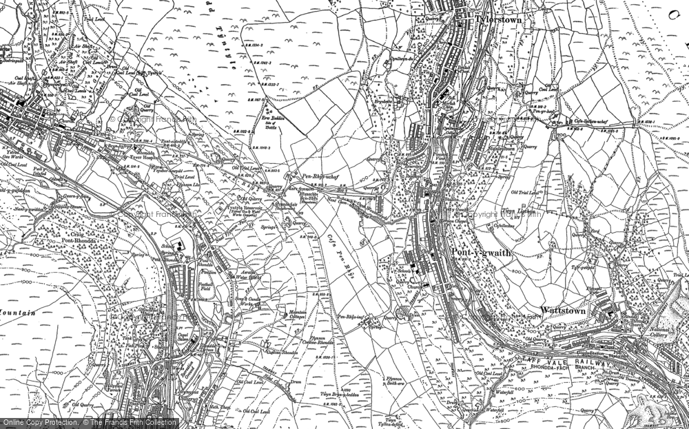 Old Map of Pontygwaith, 1898 in 1898