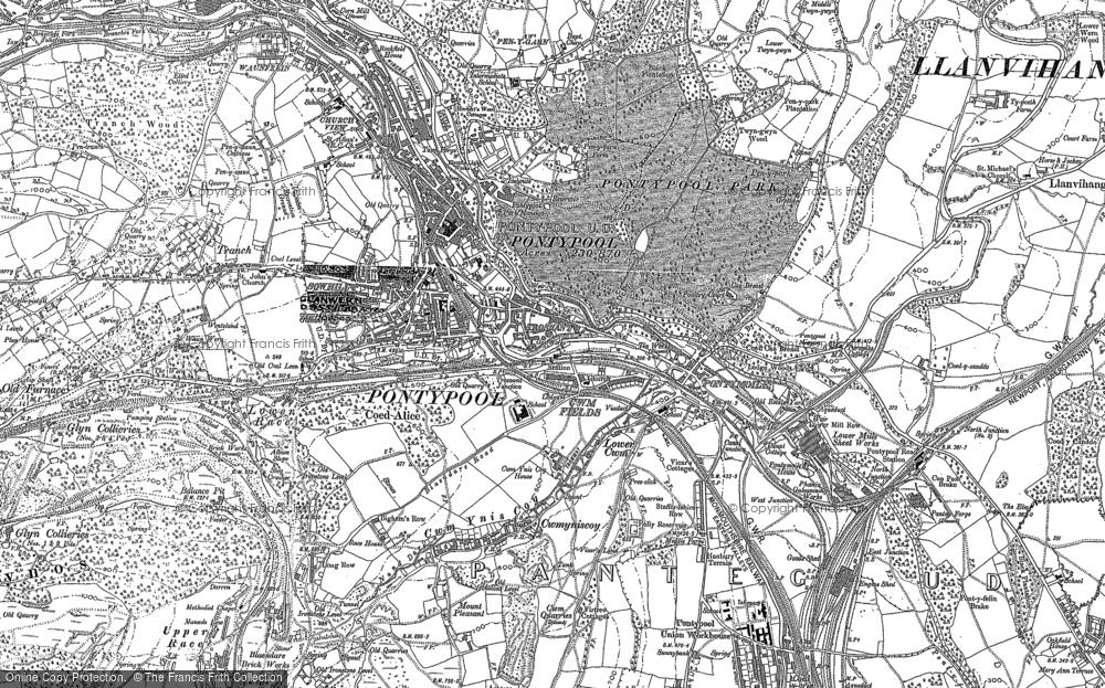 Map of Pontypool, 1899