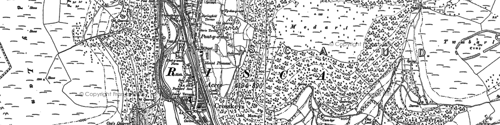 Old map of Pontywaun in 1899