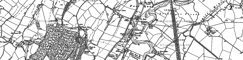 Old map of Bank in 1884