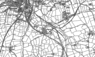 Old Map of Poolsbrook, 1876 - 1897