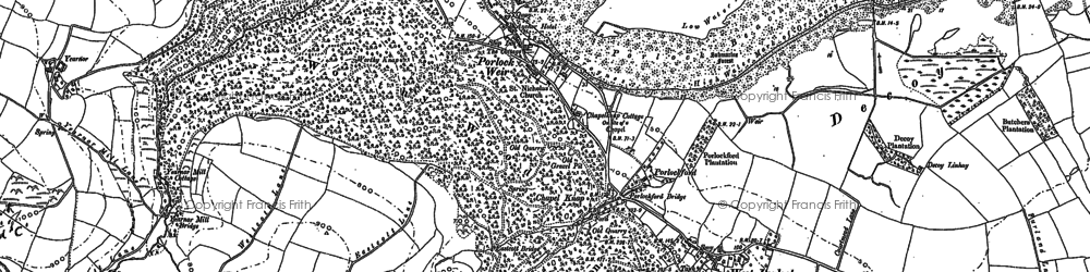 Old map of Porlock Weir in 1902