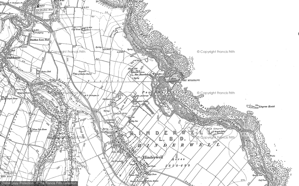 Old Map of Historic Map covering Lingrove Howe in 1913