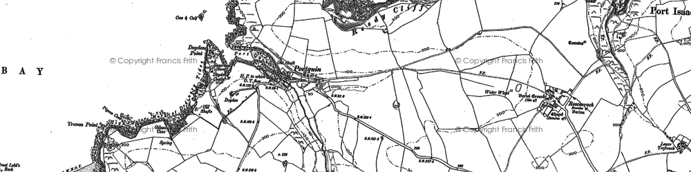 Old map of Port Quin in 1880