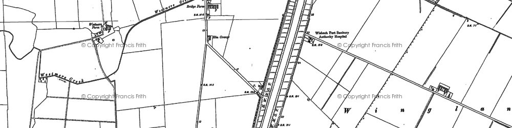 Old map of Wingland Marsh in 1887