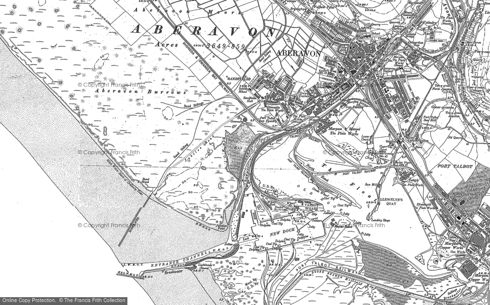 Old Map of Port Talbot, 1897 in 1897