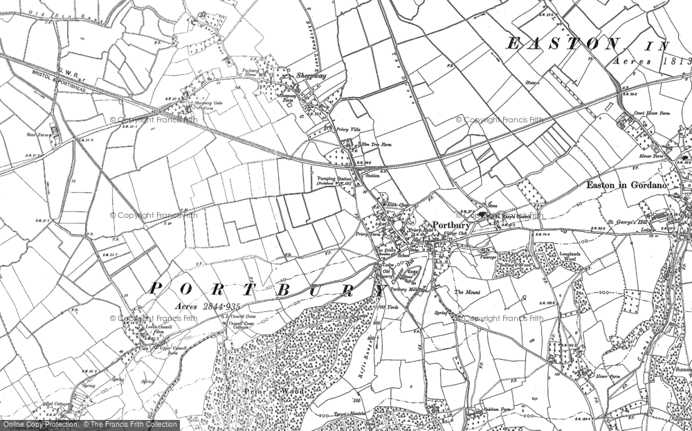 Old Map of Portbury, 1883 - 1902 in 1883