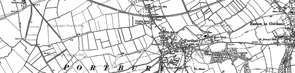 Old map of Windmill Hill in 1883