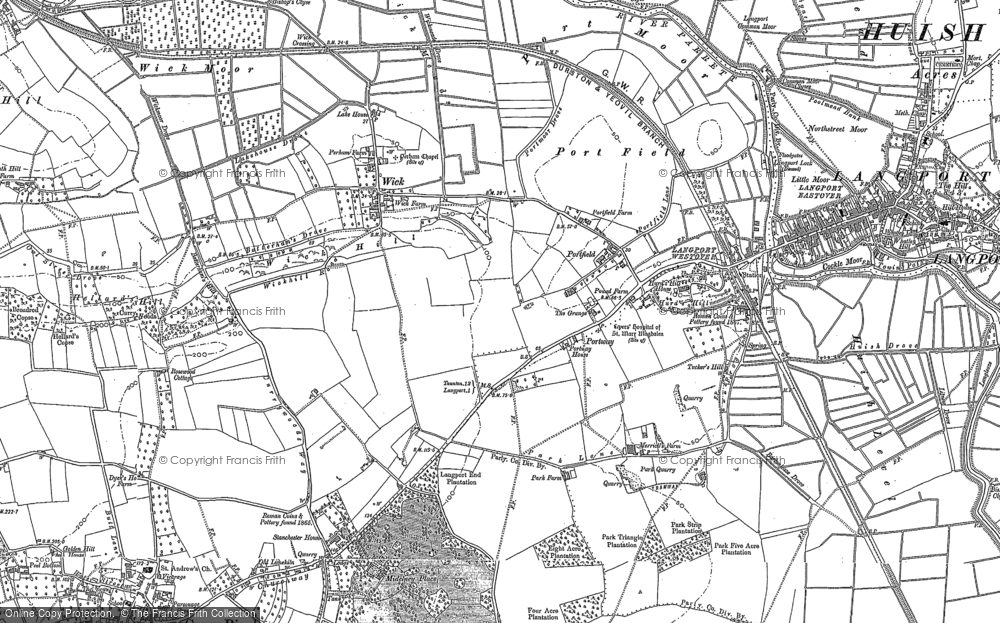 Old Map of Portfield, 1886 in 1886
