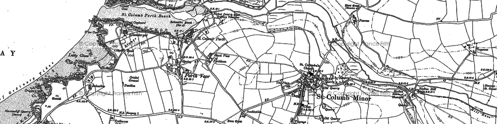 Old map of Porth in 1880