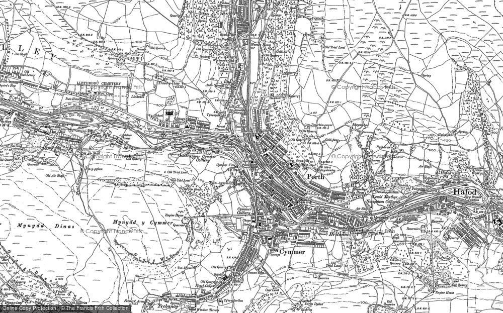 Old Map of Porth, 1898 in 1898