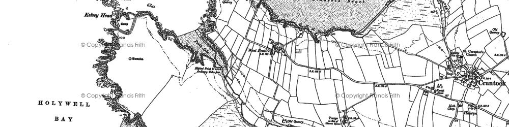 Old map of Porth Joke in 1906